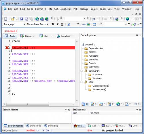 phpDesigner 7.2.5 Rus Portable k SoftLab - ������ portable-�����!